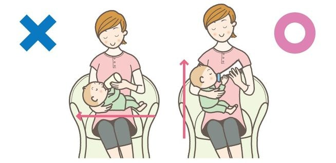 3 benefits of             having the same feeding angle as breastfeeding:
